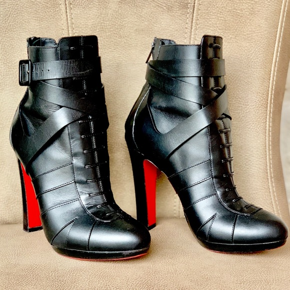 6eb227eca786 Christian Louboutin Shoes - 💯🆑LAMU 120 ANKLE BOOTIE BLACK EURO 38 1 2